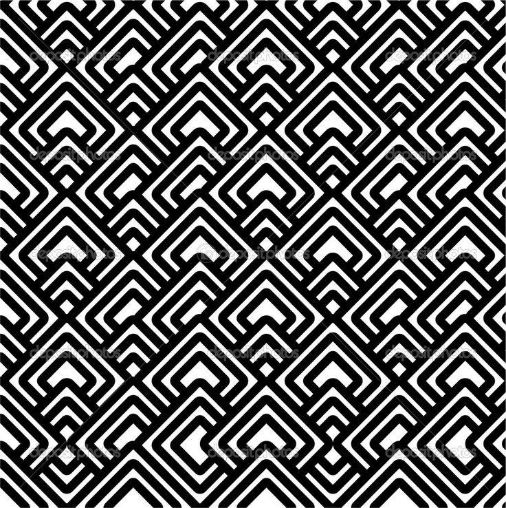 Geometric Patterns | Geometric black & white pattern | Stock Photo © Polina Bobrik ...