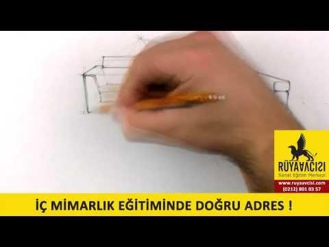 İç Mimarlık Çizim Teknikleri izle, Resim Kursu, Esenyurt, Beylikdüzü, Avcılar, Büyükçekmece - YouTube