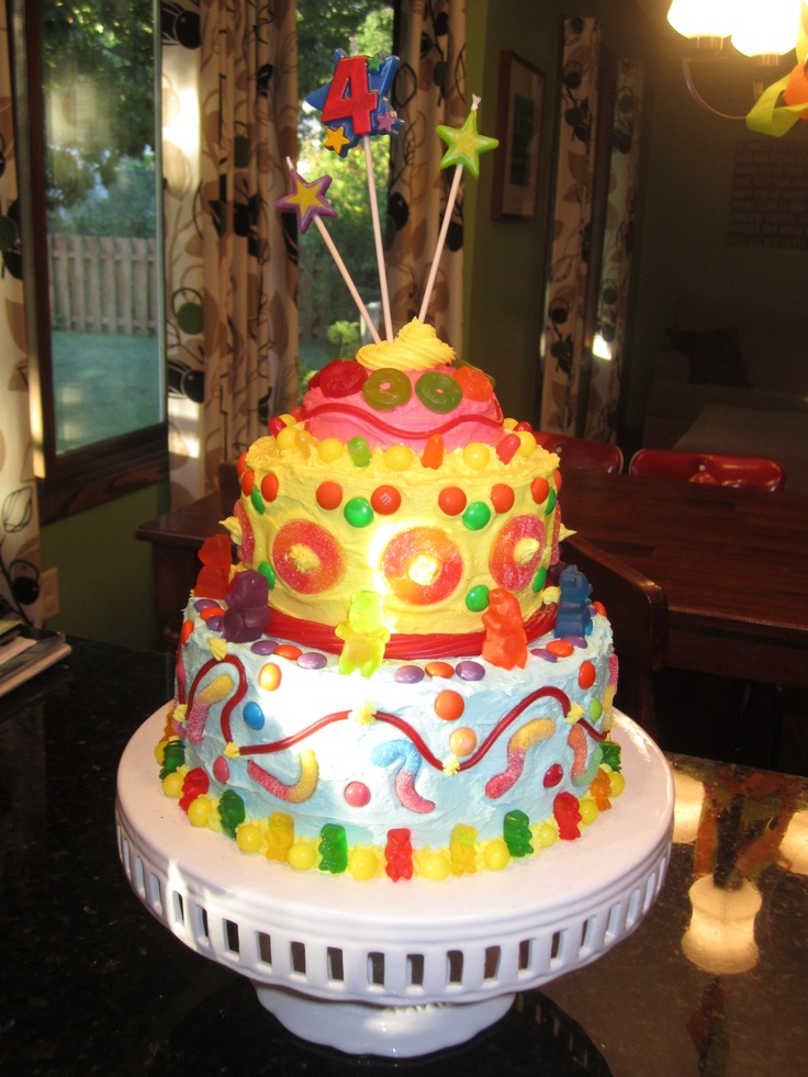 Candy Covered Birthday Cake Party Food Pinterest