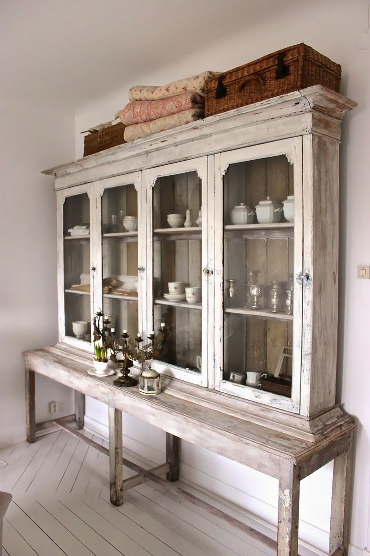 11 best images about top of hutch decor ideas on pinterest for Baskets on top of kitchen cabinets