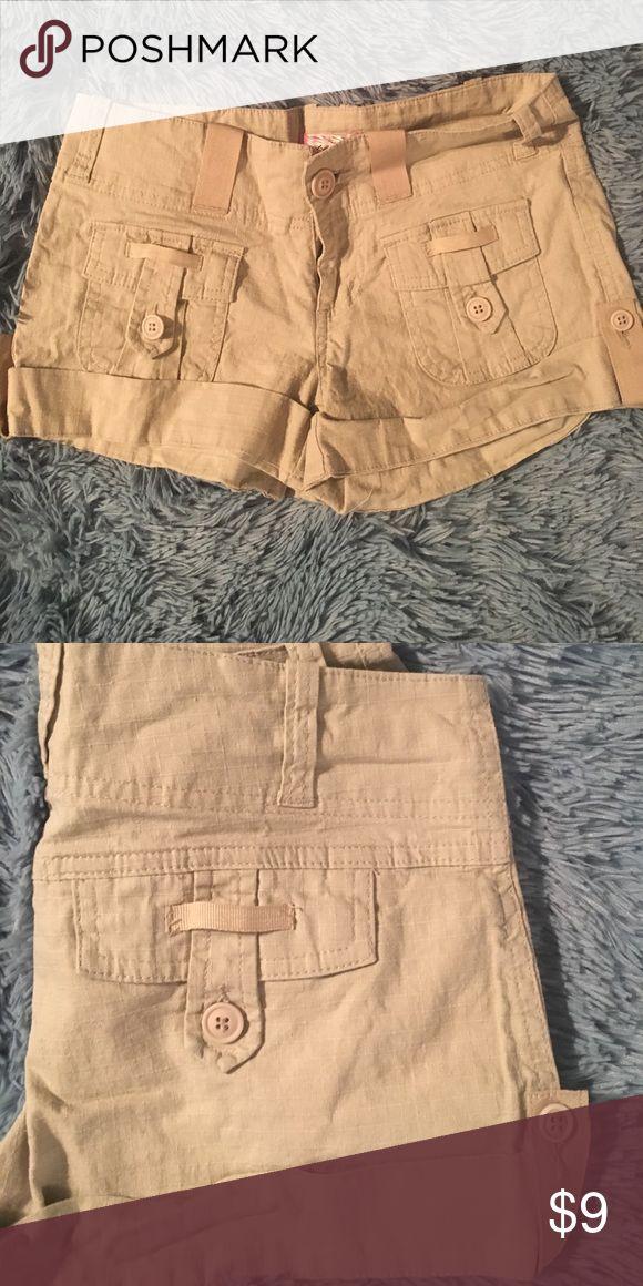 New Tan Khaki Shorts New and comfy tan or khaki colored shorts. Two front pockets and 2 back pockets. deb shops Shorts