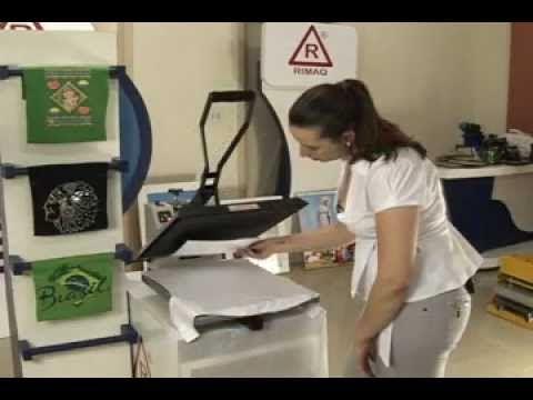 Máquina de Estampar Stampcor Rimaq - Estampa camisetas, chinelos e mais ...