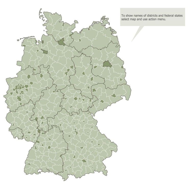 The Germany Map solution contains collection of