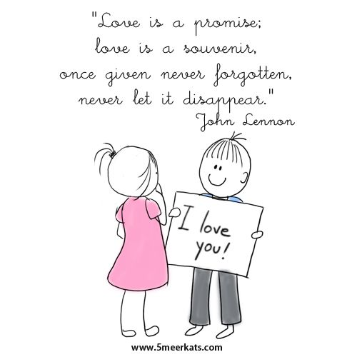 Love is a promise, love is a souvenir, once given never forgotten, never let it disappear #johnlennon #lovequote