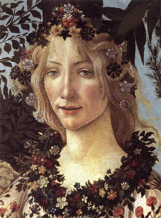 Flora the goddess of flowers and the season of spiring, Primavera 04 - Primavera (painting) - Wikipedia, the free encyclopedia