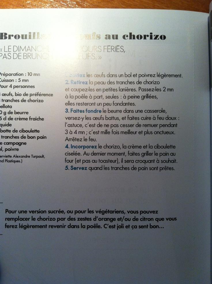 Mouillettes chorizo