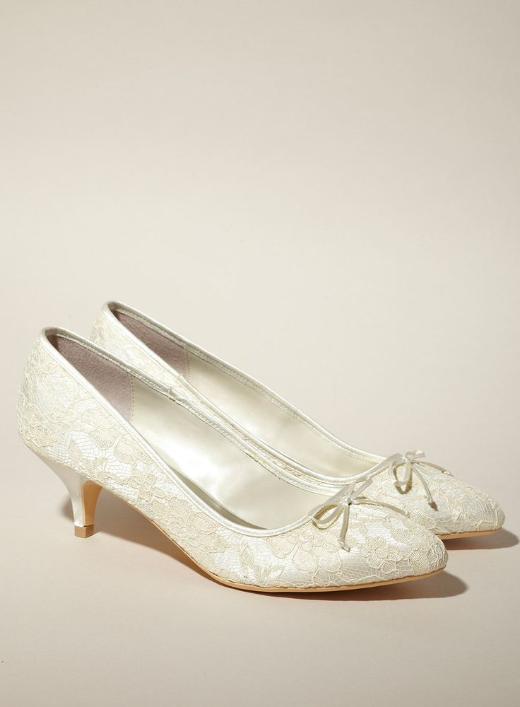 Bridal Kitten Heel Shoes