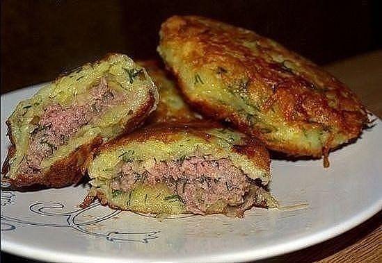 Картофельные драники с мясом - объедение!