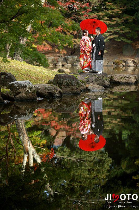 紅葉の奈良での前撮りロケーション撮影