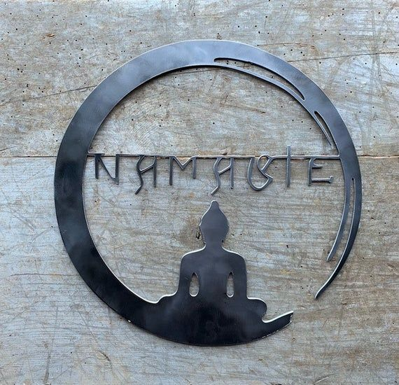 Namaste Wall Art Buddha Wall Art Namaste Buddha Decor Yoga Decor Anjali Mudra Custom Metal Buddh Buddha Wall Art Flower Canvas Wall Art Buddha Decor
