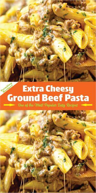 Extra Cheesy Ground Beef Pasta | Daily Recipes