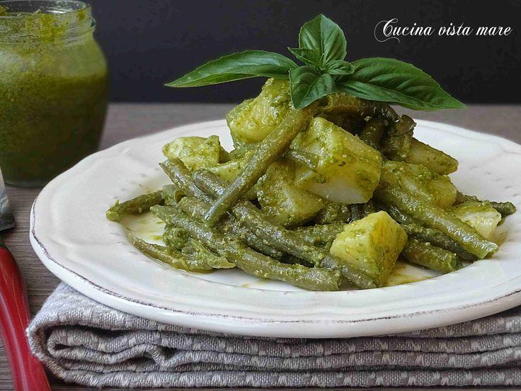 Insalata+di+fagiolini+e+patate+al+pesto