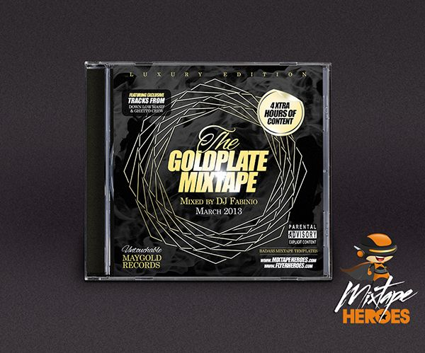 goldplate mixtape cover template free psd photoshop mixtape cover template