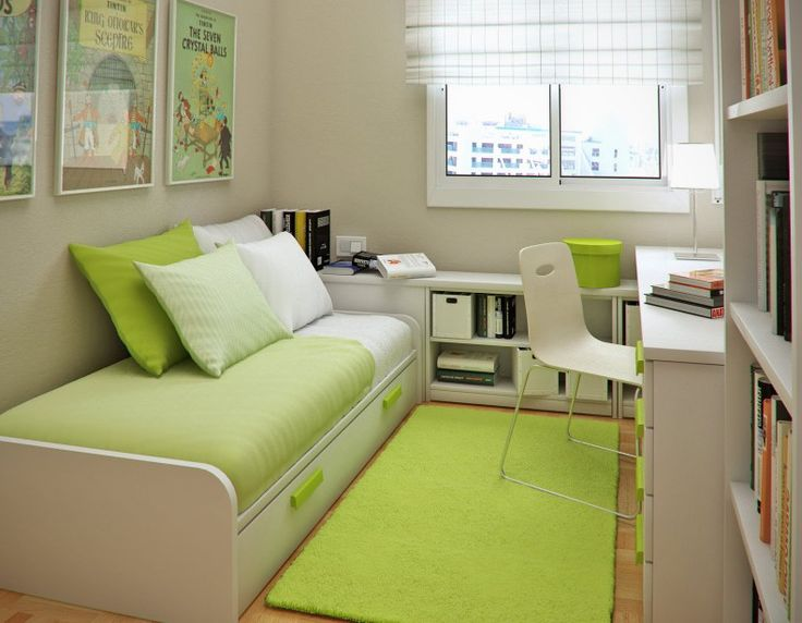 Bedroom Designs, The Incredible Green Carpet Design With Single White Chair Licious Storage Ideas For Small Bedroom: All Look Tidy And Clean With Storage Ideas For Small Bedrooms