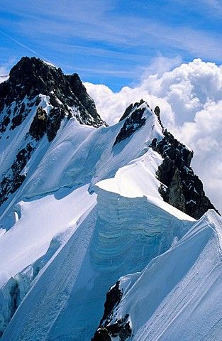 The Rochefort ridge, Mont Blanc mountain massif, Savoy Alps, France