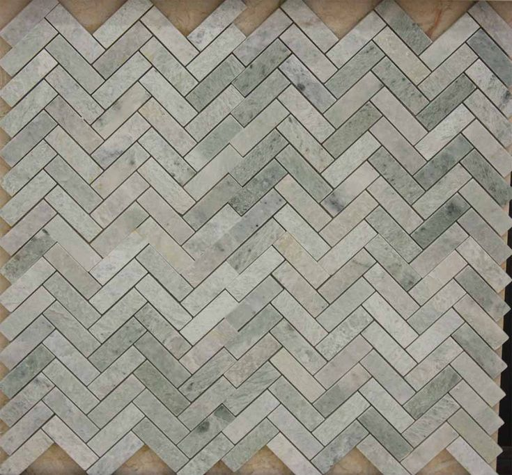 Ming Green Herringbone American Stone Collection Tile
