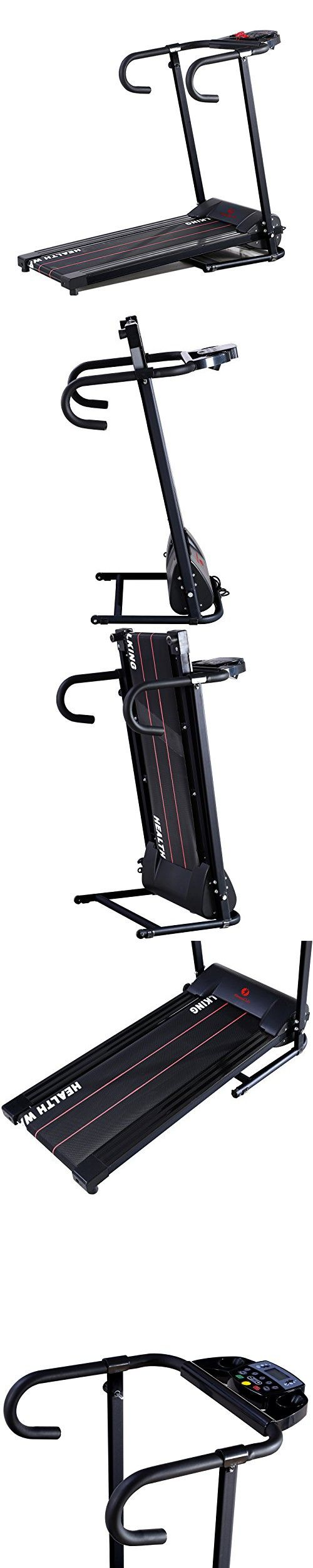 Idealchoiceproduct Electric 500W Portable Folding Treadmill Running Fitness Workout Multi Function Machine