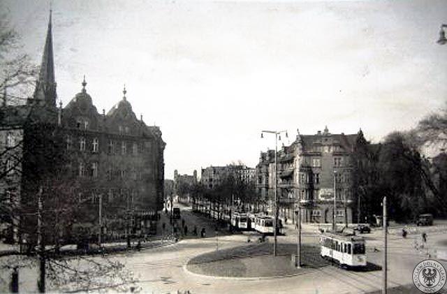 Scheitniger Stern - widok w kierunku Kaiser Brücke(Most Grunwaldzki)Rok 1937