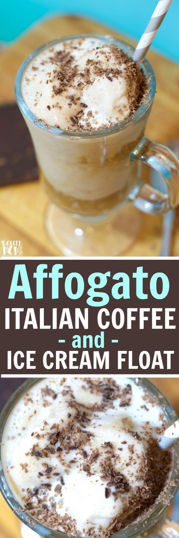 "The word affogato literally means ""drowned"" in Italian — Easy, 3 ingredient classic ice cream and coffee dessert. It's a coffee-lover's dream come true!!"