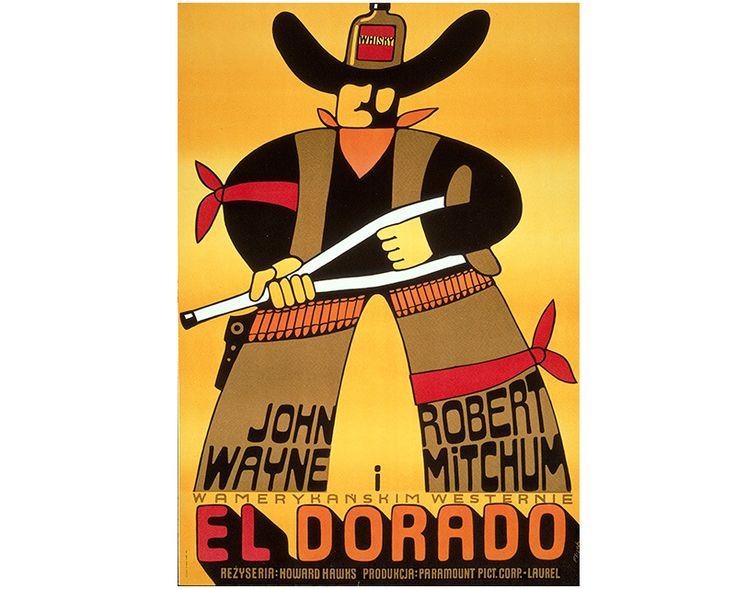 Rebranded | Denver Art Museum | Jerzy Flisak, El Dorado, 1973. Polish poster for the American film El Dorado (1967). Lithograph. Courtesy of the Autry National Center, Los Angeles.