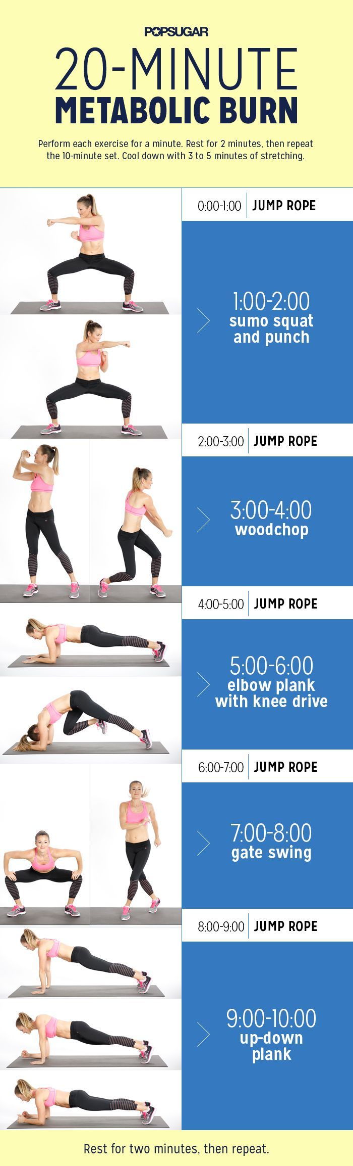 The 20-minute workout is a perfect combination of cardio and strength training