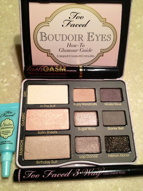 Too faced Boudoir Eyes palette. Not gonna lie...these shades look gorgeous! Got coming Saturday excited to add to bonbon