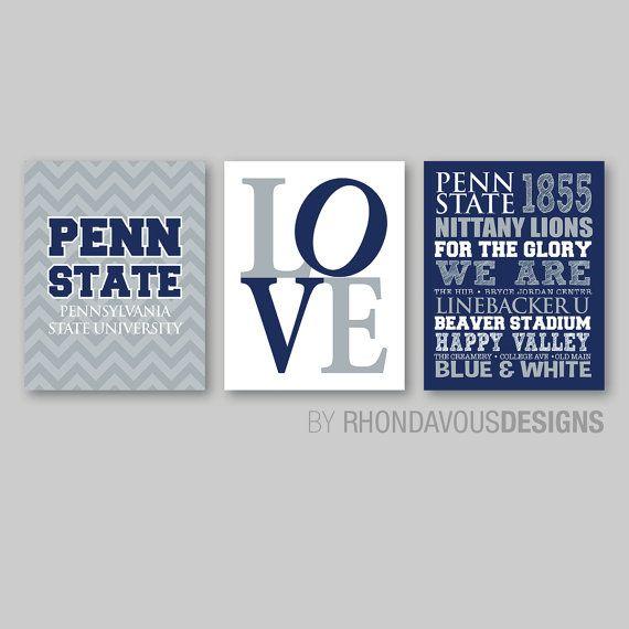 Penn State Art  Penn State Decor  Penn State by RhondavousDesigns2, $20.00