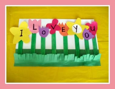 I Love You Mothers Day Flower Card Craft and Song from Kiboomu