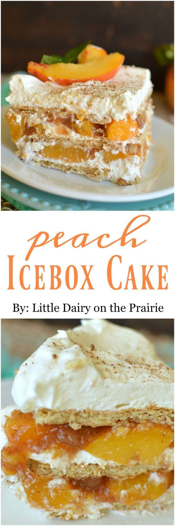 No Bake Peach Ice Box Cake is a scrumptious, quick and easy summer/fall dessert!