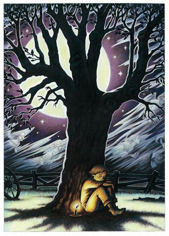 "Robin Muller illustration for ""The Angel Tree""."