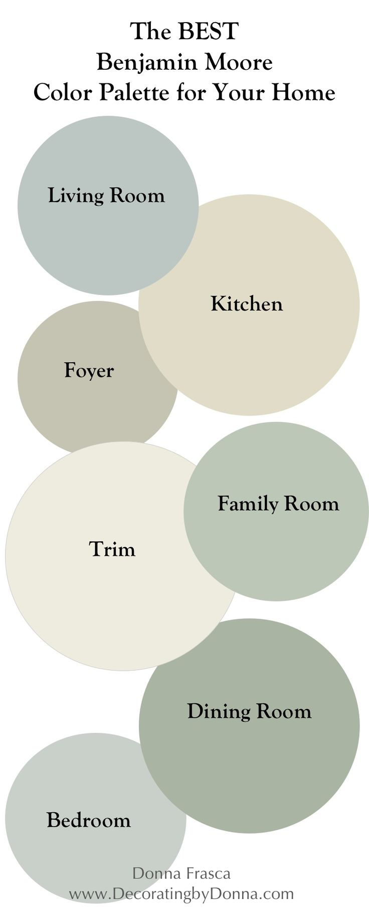 The Best Benjamin Moore Coastal Color Palette For Your Home UPDATED!