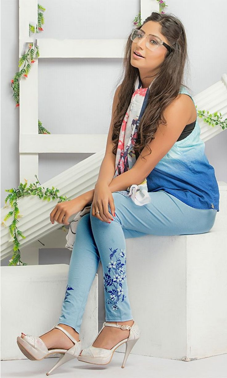 Buy Sky Blue Cotton Printed Legging at Discounted Prices - LEPRPY605-SKY-BLUE