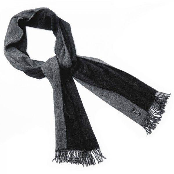 Alpaka Schal Unisex schwarz
