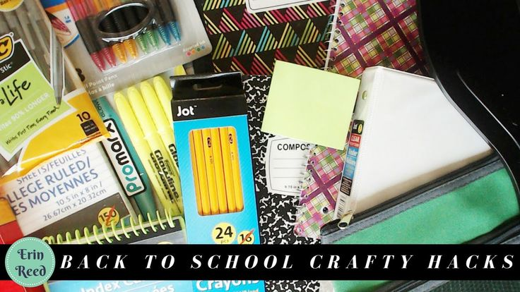 Amazing Crafty Hacks and Ideas Using Back to School Supplies