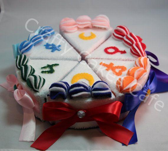 Sailor Moon cute cake felt plushies!