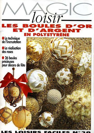 Manualidades navideñas_magic loisir les boules d'or - Poli natal - Álbuns da web do Picasa