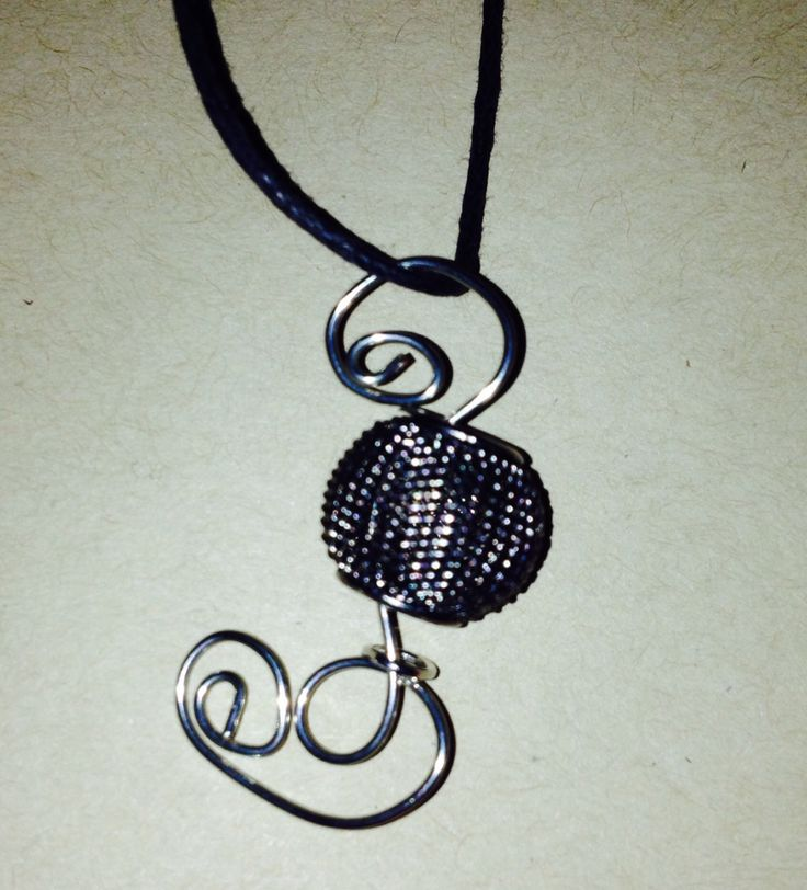 Sheltered!  You are protected!  Wire bead pendant only $15 at www.sozojewellerydesigns.com