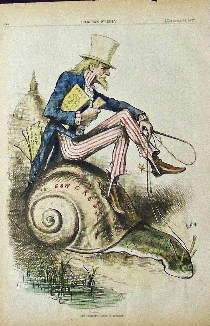 Rare, Old Uncle Sam Cartoon by Thomas Nast