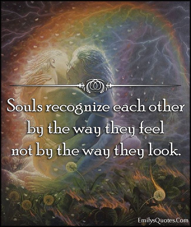 Love Each Other When Two Souls: Souls Recognize Each Other By The Way They Feel Not By The