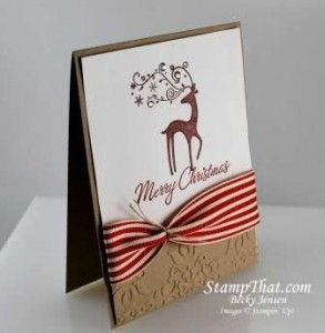 Stampin' Up! Dasher -- could use the little deer from Warmth and Wonder (hostess) stamp set