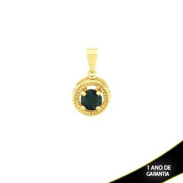 Mostrar detalhes para Pingente Redondo com Pedra de Strass Várias Cores - 0303983
