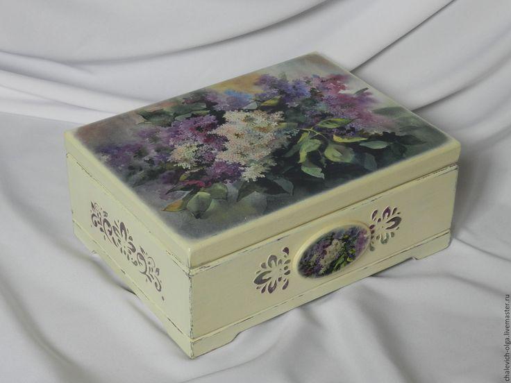 Купить Сирень в акварели - тёмно-фиолетовый, сирень, подарок девушке, фанера