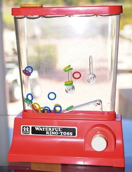 """Handheld gaming"" when I was a kid!  Omg omg omg. Loved any of those water fun games. Redic. Anyone remember KB toys. Hahahahaaahaha."