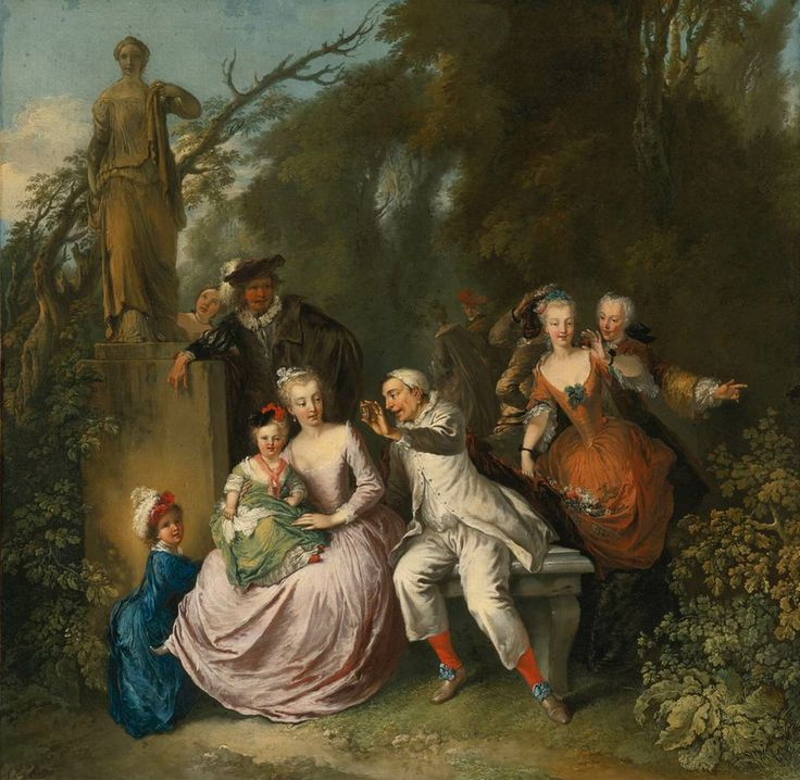 DIETRICH, Christian Wilhelm Ernst Comedic Performance in a Park Setting