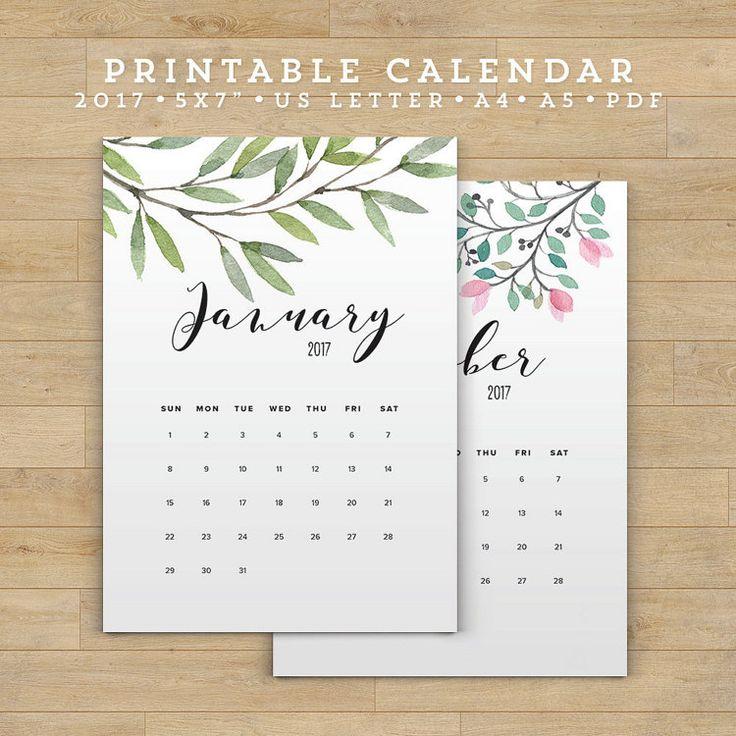 Year Calendar Diy : Best calendar printable ideas that you will like