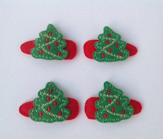Mollette per capelli Albero di Natale   Set da di unfilotiralaltro