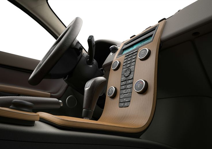 """Volvo V50's """"floating"""" centre console! Well it's not floating but it looks cool"""
