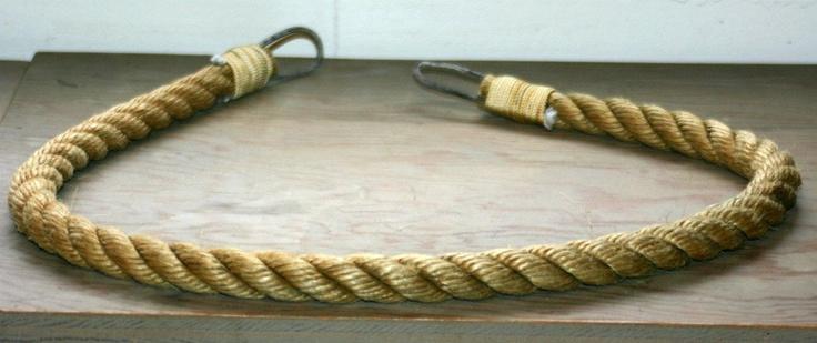 Set of 2 Rope Curtain Tie Backs Nautical Decor for Drapery Rustic Window Treatments. $60.00, via Etsy.