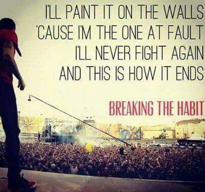 'Breaking the Habit' - Linkin Park #lyrics