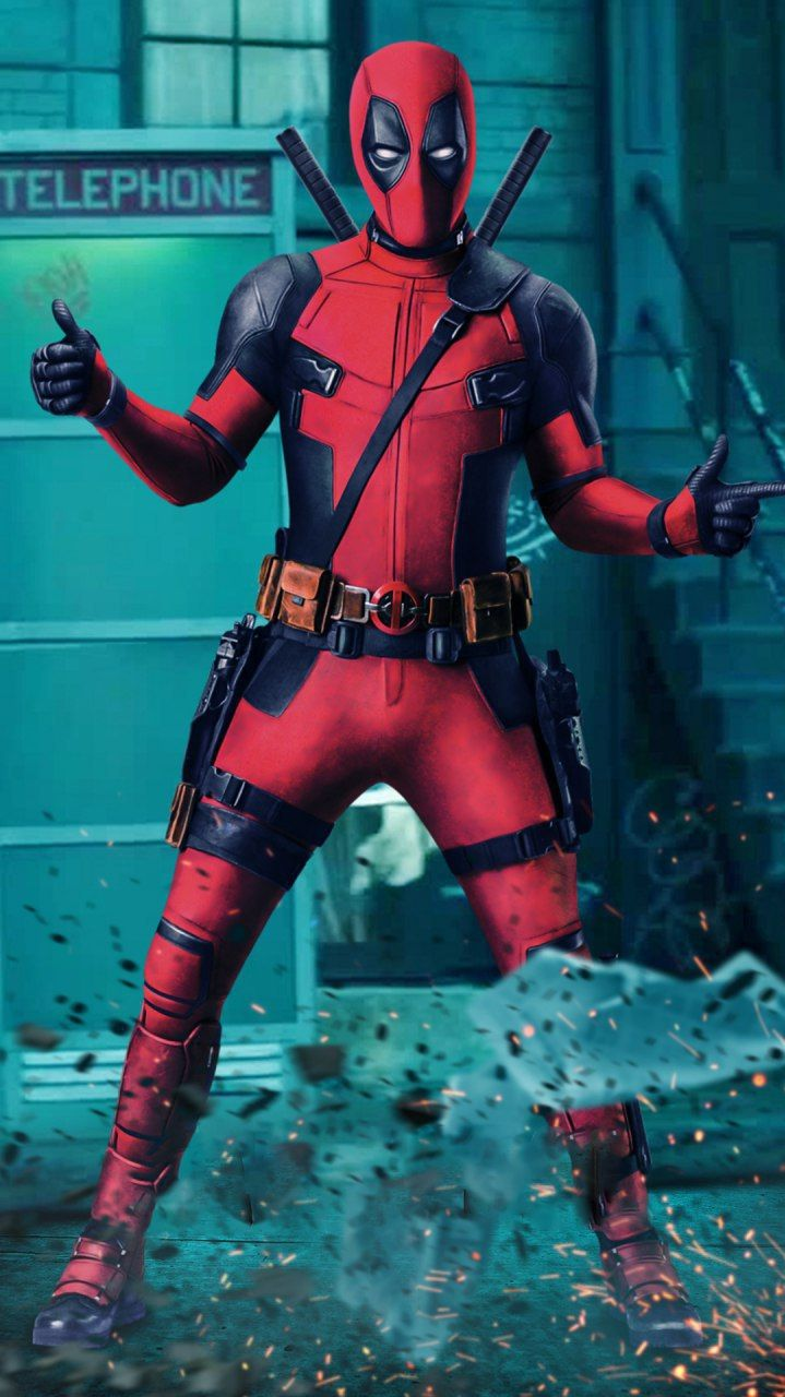 Download Deadpool Action Thumbs Up Iphone Wallpaper Top Free